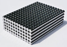 "1000 MAGNETS 3mm x 3mm (1/8"") cylinder/disk STRONGEST N48 Neodymium US SELLER"