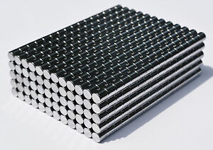 100 MAGNETS 4mm x 4mm cylinder/disk STRONGEST N48 Neodymium US SELLER