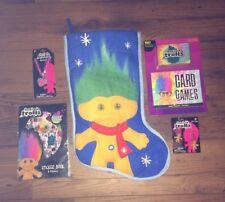 Trolls Bundle GoodLuck Trolls Christmas Stocking Stickers Earrings Necklace Card