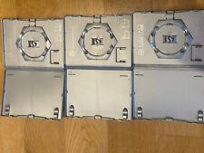 3 x Genuine Official Nintendo Gamecube Cases Platinum / Silver