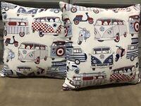 "Pair Of 17"" Camper Van Cushions T5 T6 T4 Vw Caddy Vespa Brand New"