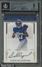 2016 National Treasures Gold Sterling Shepard RC 15/25 BGS 9 w/ 10 AUTO