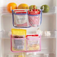 New Kitchen Refrigerator Hanging Storage Bag Food Organizer Fridge Mesh Holder