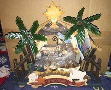 Mk Nib Nativity Scene Woodworks Christmas 22007 By Roman, Inc
