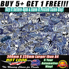 Sticker Bomb Sheet 306X220 Stickerbomb Suit HOON JDM Car Wrap Skateboard Laptop
