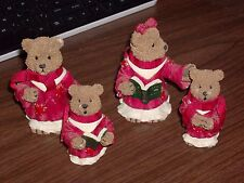 American Greetings 1997 Heart Patch Place Bears 1st Edition Hills Exc. Set of 4