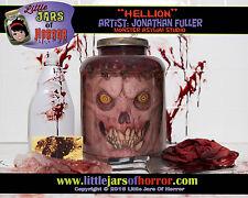"""Hellion"" Head in Jar - Halloween/Horror Prop/Decor-  Fresh Red Version"