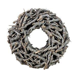 Kranz aus Zweigen D=40cm Vintage grau rund Wurzelkranz Tischkranz Türkranz NEU