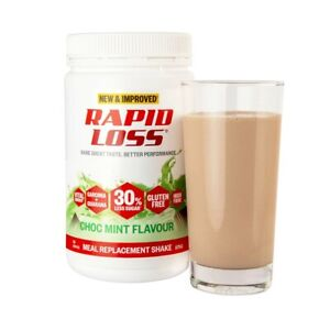 3x Rapid Loss Choc Mint Meal Replacement Weight Loss Management Gluten Free