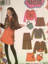 Simplicity Sewing Pattern 4439 Girls Skirt Pants vest Jacket Bag Top Size 8-16