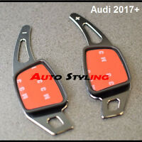 2017+ Aluminium Black Paddle Shift Extensions for Audi Steering Wheel Flappy