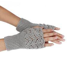 f8302f0956cc56 Armstulpen Handschuhe Fingerlos Handstulpen Pulswärmer hellgrau Geschenk