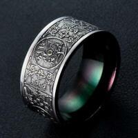 Retro Edelstahl Drachen Ring im chinesischen Stil Charms Schmuck Gothic Unique