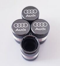 AUDI Laser Wheel Valve Dust caps all model NON STICK CAPS S LINE RS S5 Q8 Q3 RS4