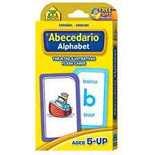 Alphabet Flash Cards Letter Picture Bilingual Spanish Espanol Edition Learn Kids