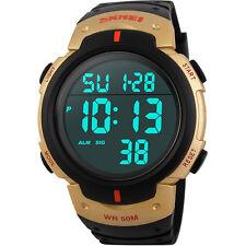 Wasserdicht Digital Led Uhr Alarm Kalender Uhr Sportuhr Herren Armbanduhr