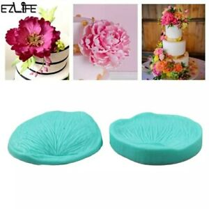 SALE New Large Peony Flower Petal veiner Silicone Mould Cake Cupcake Wedding UK