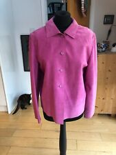 Candy Pink Suede Jacket Size 14
