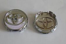4 NEW Chrome Wheel Center Caps Toyota™ Corolla, Yaris, Prius - Free Shipping