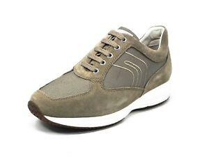 Geox Scarpa uomo U Happy scamosciato+tessuto Sand beige Sneakers U4162GC4064
