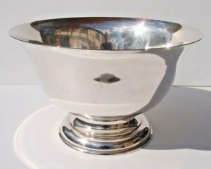 """Antique Stieff Footed Sterling Silver Centerpiece Punch Bowl Paul Revere_13"""" Dia"""