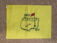 ARNOLD PALMER AUTOGRAPHED SIGNED 2011 MASTERS GOLF FLAG AUGUSTA NATIONAL w/COA