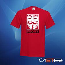 Camiseta disobey v vendetta anonymous  (ENVIO 24/48h)