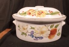 Royal Worcester Pershore Vintage Covered Casserole Dish 1978 England BIG!  9 Cup