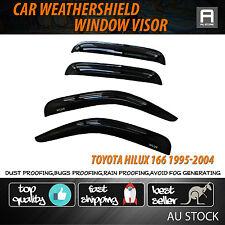 Window Visor Weathershield Weather Shield Rain Vent For Hilux 166 1995-2004 UTE