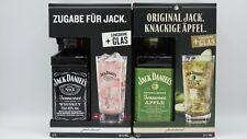 Jack Daniel's Apple 700ml., 35% & Jack Daniel`s mit Longdrink Glas, 700ml. 40%