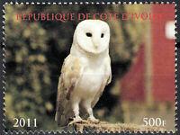 Elfenbeinküste postfrisch MNH Vogel Eule Schleiereule Greifvogel Raubtier / 4