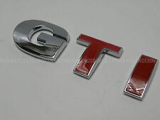VW GOLF GTI RED CHROME REAR CAR BOOT TAILGATE BADGE RETRO CLASSIC POLO JETTA FOX