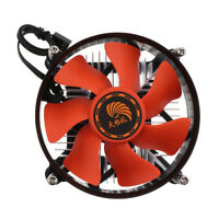 Aluminum Computer Quiet Cooled Fan CPU Cooler Copper for Intel Socket 1150