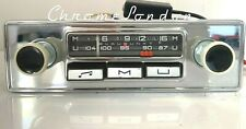 12v+/- BLAUPUNKT MANNHEIM Vintage Chrome Classic Car FM Radio MP3 WARRANTY MG VW