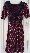 NEW TAG! MACY'S JONES NEW YORK (PETITE) 6P MULTI-COLORED SPANDEX DRESS $134.00