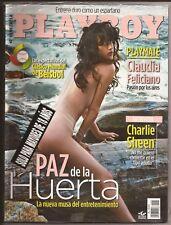 PLAYBOY VENEZUELA FEBRUARY 2013 PAZ DE LA HUERTA PLAYMATE CLAUDIA FELICIANO