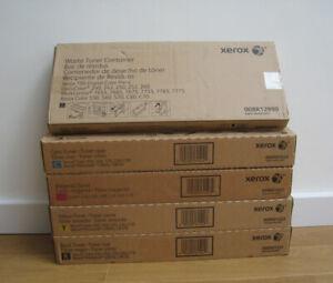 Genuine Xerox YMCB Toner + Waste 550 560 570 C60 C70 C9065 C9070 006R01521