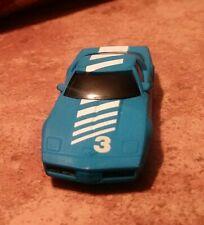 New listing Tyco Narrow Chassis #3 Blue/White Chevy Corvette Slot Car Body..NEW