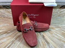 Salvatore Ferragamo Loafers Bloody Mary Red Suede Loafers Size 42EU /9US 8UK