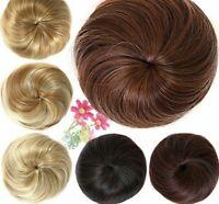 Donut Chignon Bun Hair Wig Pure Color High Temperature Fiber Synthetic Hairpiece
