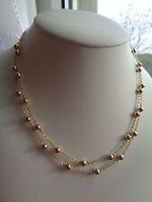 Halskette in 585 Goldfilled, zweireihig, mit Kugeln, bezaubernd klassisch...
