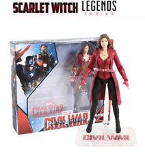 FIGURA BRUJA ESCARLATA WANDA Civil War  : Marvel Legends Limited en CAJA 18cm