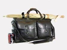 Vintage Ghurka Marley Hodgson # 2 EXPRESS Black Saddle Leather Travel Duffel Bag