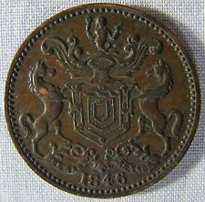 1846 Newfoundland Rutherford Bros Harbour Grace Coin Token whotoldya Lot 41616