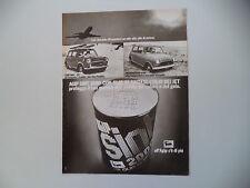advertising Pubblicità 1973 AGIP OLIO SINT e INNOCENTI MINI 1000