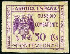 ESPAÑA SUBSIDIO AL COMBATIENTE PONTEVEDRA 5 SELLOS DIFERENTES