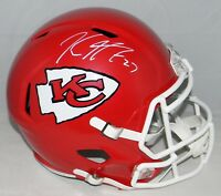KAREEM HUNT AUTOGRAPHED SIGNED KANSAS CITY CHIEFS FULL SIZE SPEED HELMET JSA