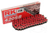 RK Universal Standard Motorcycle Chain Red 420 SB 132 Link Spring Link Included