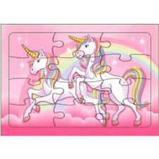 Set of 10 Unicorn Jigsaw Puzzles - Fun Childrens Gift Ideas Fillers Birthday