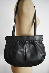 VINTAGE RETRO Black Leather Handbag